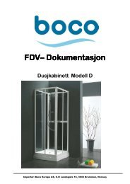 FDV– Dokumentasjon Dokumentasjon ... - Boco Europe AS