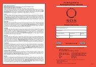 Forsikringsvilkår for Redningsforsikring i Udlandet - SOS International