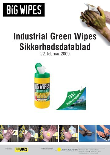 Industrial Green Wipes Sikkerhedsdatablad - Scanlico