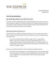 Flere flyr businessklasse - 21.09.12 - VIA Travel