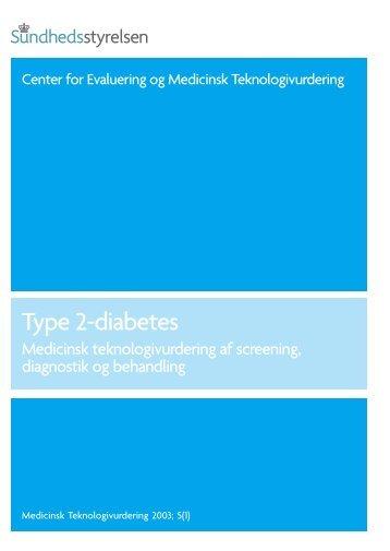 Type 2-diabetes - Sundhedsstyrelsen