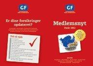 Medlemsnyt Forår 2012 - GF Forsikring