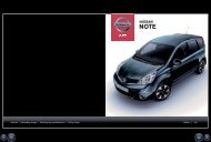 brochure for Nissan Note