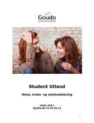 Dekningsoversikt Student Utland - Gouda Reiseforsikring