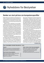 Banker ser stort på krav om kompetenceprofiler - Nyhedsbrev for ...