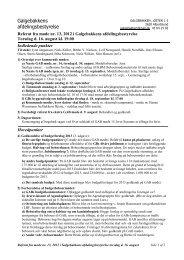 Referat Gab møde no. 13 2012 - Galgebakken