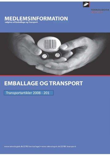 Artikelsamling Transport og ITS (8.9 MB) - Teknologisk Institut