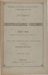 Oversigt over Sindssygeasylernes Virksomhed i Aaret 1892 - SSB