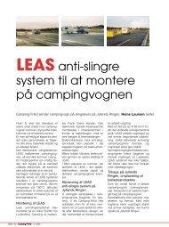 LEAS anti-slingre system til at montere på campingvognen