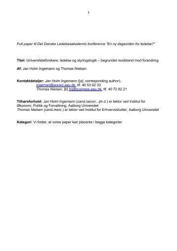 Jan_Holm Ingemann&Thomas_Nielsen.pdf - Det Danske ...