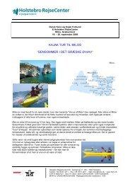 sensommer i det græske ø-hav - Dansk Kano og Kajak Forbund