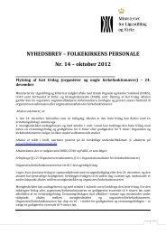 NYHEDSBREV – FOLKEKIRKENS PERSONALE Nr. 14 – oktober ...