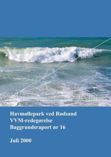 Havmøllepark ved Rødsand VVM-redegørelse Baggrundsraport nr ...