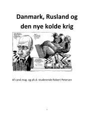 Danmark, Rusland og den nye kolde krig
