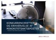 Konkurrenceretten - minoritetsaktieposter - Bech-Bruun