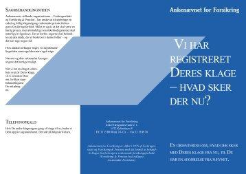 Vi har registreret Deres klage (PDF) - Ankenævnet for Forsikring