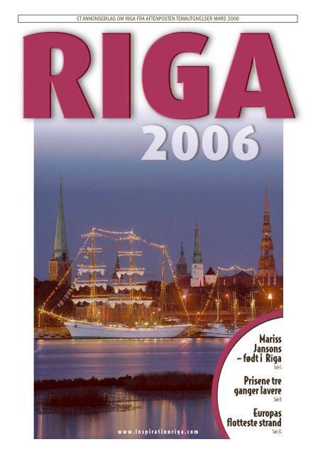 1e5cbbe0 Bilaget i Aftenposten om Latvia - Kulturlaget Norge-Latvija