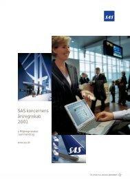 SAS koncernens årsregnskab 2001 - SAS Group