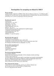 Retningslinier for ansøgning om tilskud fra MBUF