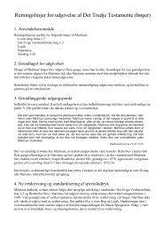 Retningslinjer for udgivelse af Det Tredje ... - Martinus Institut