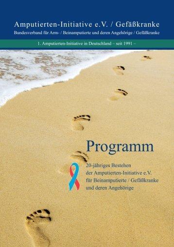 Programm als PDF - Amputierten - Initiative eV / Gefäßkranke