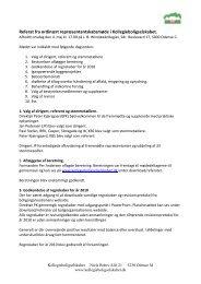 Referat fra ordinært repræsentantskabsmøde i Kollegieboligselskabet.