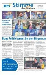 Blaue Politik kommt bei den Bürgern an - SSW