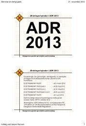 ADR 2013 - Rådgivning og kurser i transport af farligt gods