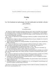 Forslag til Lov for Grønland om oplysninger, der skal ... - Inatsisartut