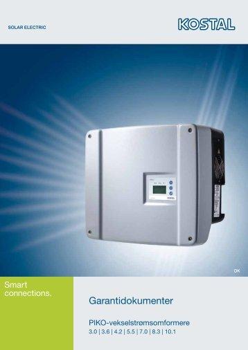 Garantidokumenter - AS Solar GmbH