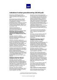 Indkaldelse til ordinær generalforsamling i SAS AB (publ) - SAS Group