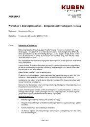 Læs referat af workshoppen - Boligselskabet Fruehøjgaard