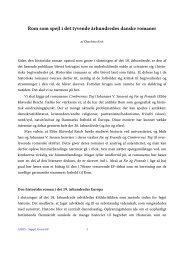 Rom som spejl i det tyvende århundredes danske romaner - Aigis