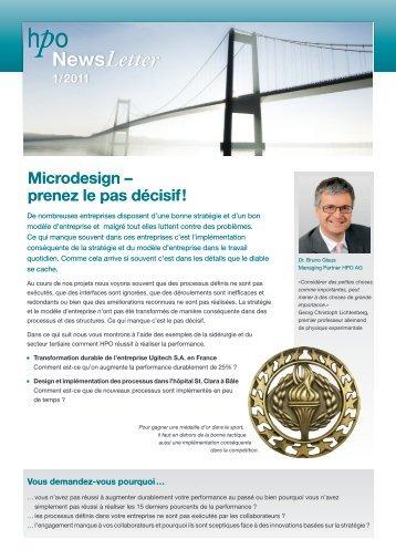 Microdesign – prenez le pas décisif! - HPO