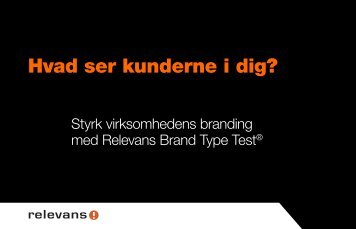 Brand Type Test - Relevans