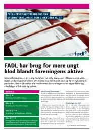 FADL har brug for mere ungt blod blandt foreningens aktive