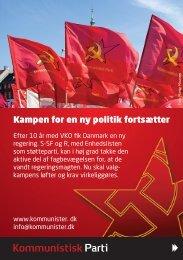 Kampen for en ny politik fortsætter - Kommunister.dk