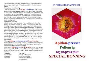 Forbrugeroplysning på honning 01. - Apidan-Systemet