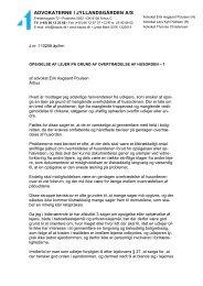 Opsigelse af lejer - Advokaterne i Jyllandsgaarden A/S
