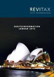 SKATTEINFORMATION jANuAR 2013