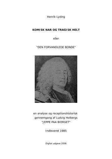 KOMISK NAR OG TRAGISK HELT (1985) - BA Forlag