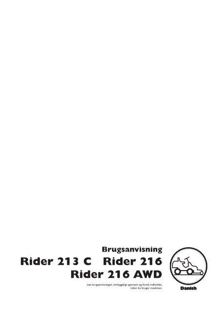 OM, Husqvarna, Rider 213 C, Rider 216, Rider 216 AWD, 2013