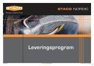 Leveringsprogram - staco nordic