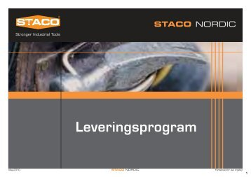 Leveringsprogram - staco nordic