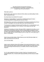 Formandens beretning 2013 - Nordre Birks Vognmandsforening