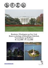 Rundrejse i Washington og New York Rejsen er planlagt af ...