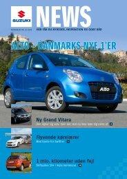 ALTO – DAnmArks nye 1'er - Suzuki.dk