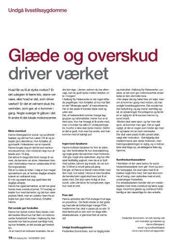 Glæde og overskud driver værket - Aalborg Ny Helsecenter