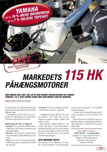 MARKEDETS 115 HK PÅHÆNGSMOTORER