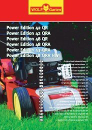 Power Edition 42 QR Power Edition 42 QRA ... - WOLF-Garten CN